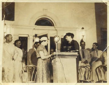 The first lady of the United States, Eleanor Roosevelt, toured Dyess on June 9, 1936, visiting with locals and eating supper at the Dyess Café.